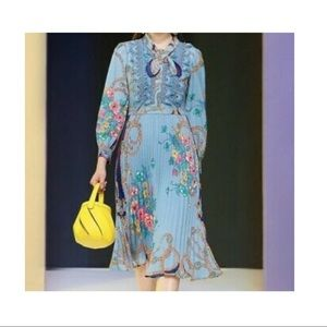 Dalia MacPhee floral fit and flare dress